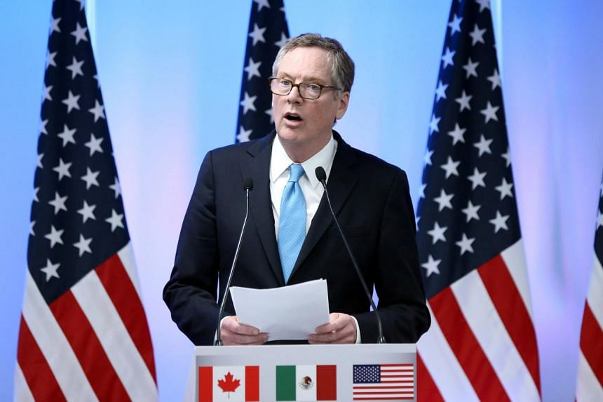 US Trade Representative Robert Lighthizer addresses the media to close the second round of NAFTA talks involving the United States, Mexico and Canada on Sept 5, 2017.