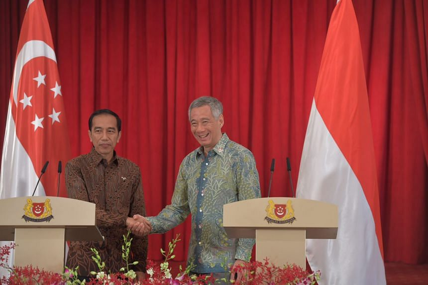 The joint press conference between Prime Minister Lee Hsien Loong and Indonesian President Jokowi on Sept 7, 2017.