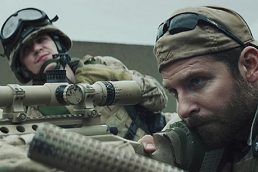 The new film, tentatively titled Iraqi Sniper, takes on Clint Eastwood's American Sniper (2014), starring Kyle Gallner (far left) and Bradley Cooper.