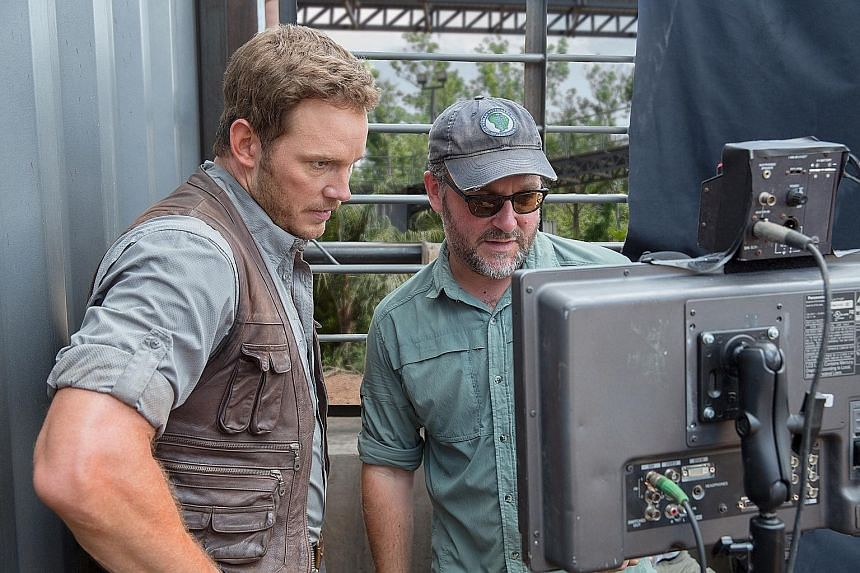 Jurassic World director Colin Trevorrow (left, with the film's lead, Chris Pratt) is no longer directing the ninth chapter in the Star Wars saga.