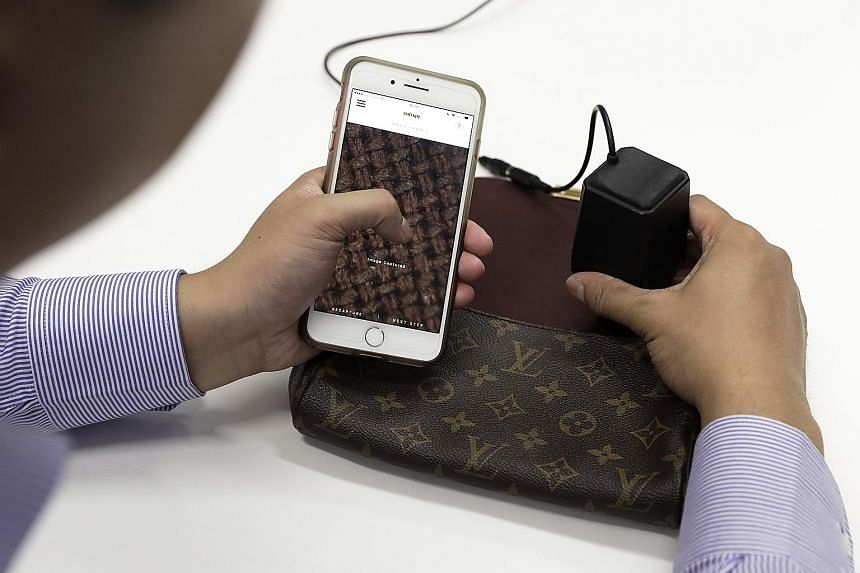 New York start-up Entrupy's handheld microscope lets anyone with a smartphone check a luxury accessory within minutes.