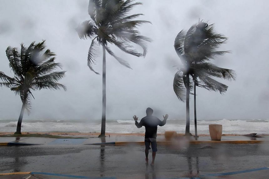 Luquillo, Puerto Rico, hit by winds and rain as Hurricane Irma slammed across islands in the northern Caribbean on Sept 6, 2017.