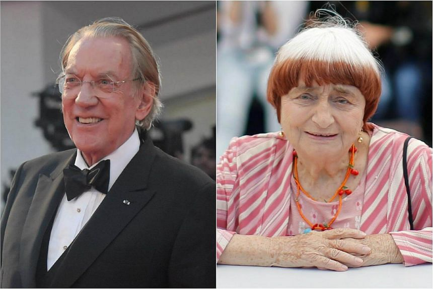 Donald Sutherland and Agnes Varda will receive honorary Oscars at a ceremony in Los Angeles in November.