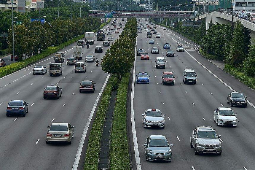 Traffic along the Central Expressway (CTE).