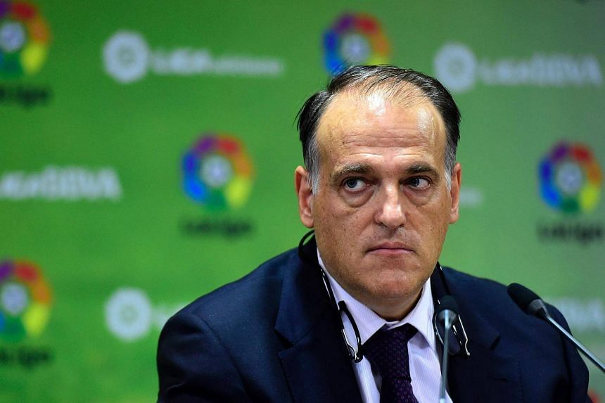 """Javier Tebas accused PSG of """"financial doping"""" and """"peeing in the pool"""" over their purchase of Brazilian striker Neymar."""
