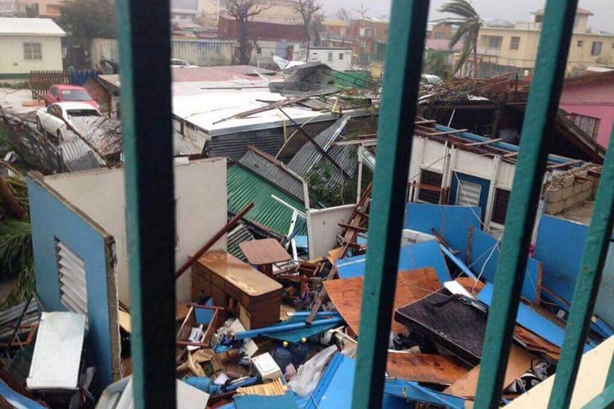 View of the aftermath of Hurricane Irma on Sint Maarten Dutch part of Saint Martin island in the Caribbean Sept 7, 2017.