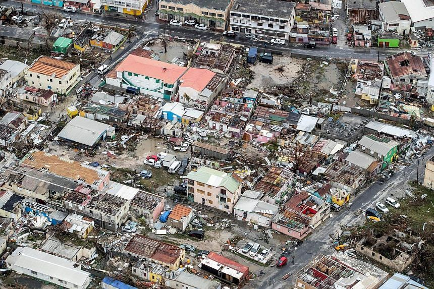 View of the aftermath of Hurricane Irma on Sint Maarten Dutch part of Saint Martin island in the Carribean on Sept 6, 2017.