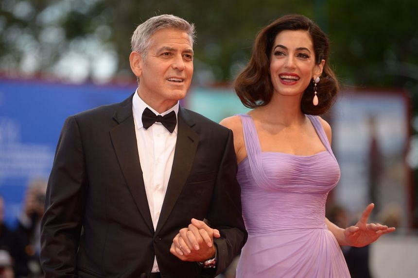 George and Amal Clooney attend the premiere of Suburbicon at the Venice Film Festival.