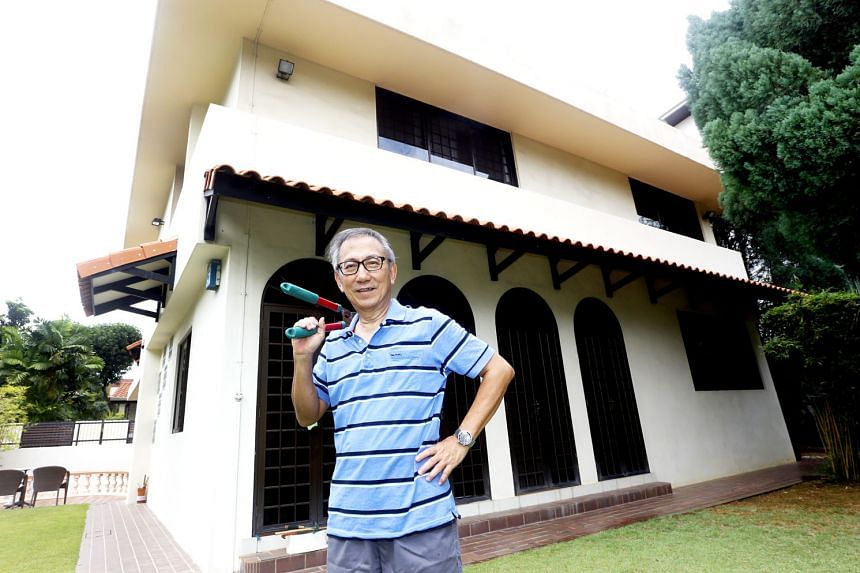 Mr Chan Han Tiong's 40-year career spans technology firms such as Texas Instruments and Hewlett-Packard, where he experienced first-hand the evolution of Singapore's technology scene. Mr Chan with a tool of a different nature. When he is not prising