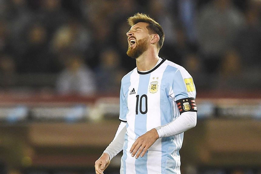 Lionel Messi shows the strain of the 1-1 home draw against bottom side Venezuela on Tuesday.
