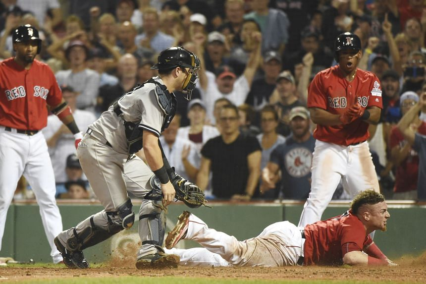 A tense moment during a recent Red Sox-Yankees game. Boston used an Apple Watch to illegally relay information relating to catchers' signs.