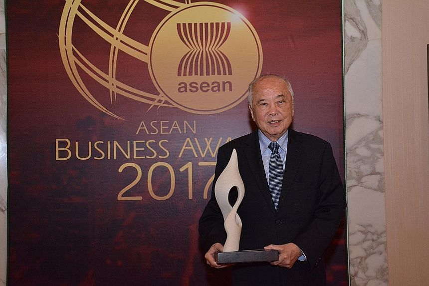 Banking and property tycoon Wee Cho Yaw is among nine leading entrepreneurs in South-east Asia to be chosen for the inaugural Legacy Awards, launched this year by the Asean Business Advisory Council to mark the bloc's 50th anniversary.