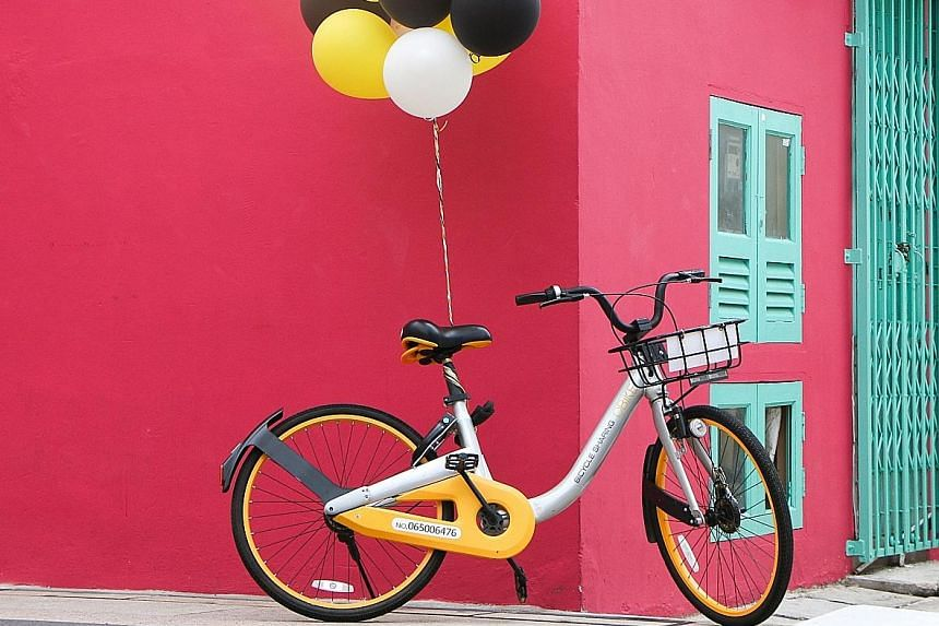 """Participants of the Design Circuit will ride around town on oBikes, completing tasks and tasting snacks and drinks at """"fuelling stations""""."""