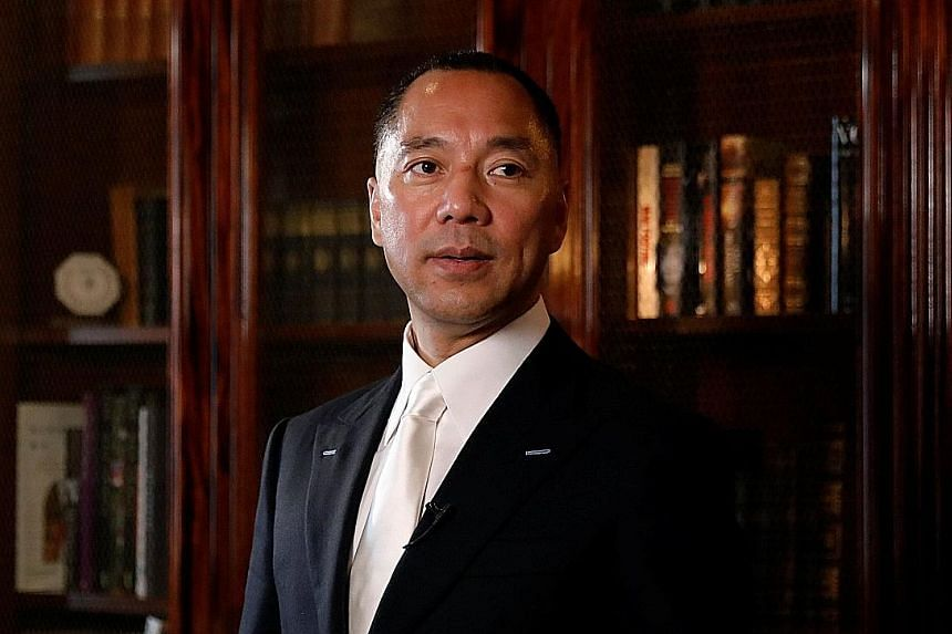 """Interpol issued a global """"red notice"""" for Mr Guo Wengui 's arrest in April, at Beijing's request."""