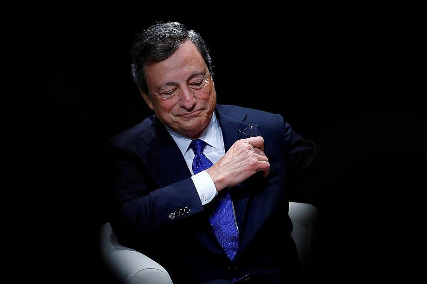 ECB chief Mario Draghi said the ECB has significantly lifted this year's growth forecast for the euro zone from 1.9 per cent to 2.2 per cent, while projections for next year and 2019 remained unchanged at 1.8 per cent and 1.7 per cent, respectively.