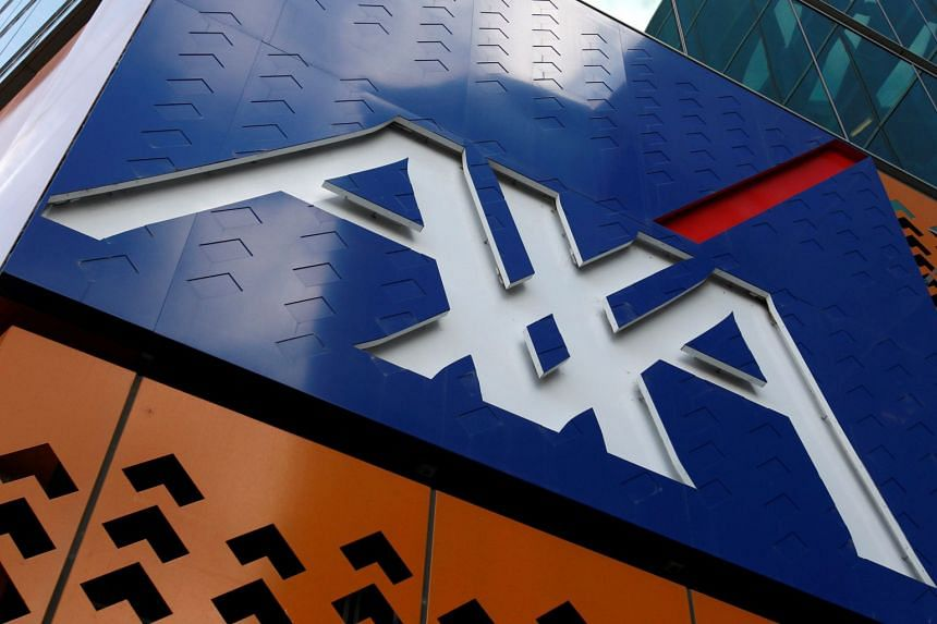 The AXA logo is seen at its headquarters in Melbourne on May 31, 2010.