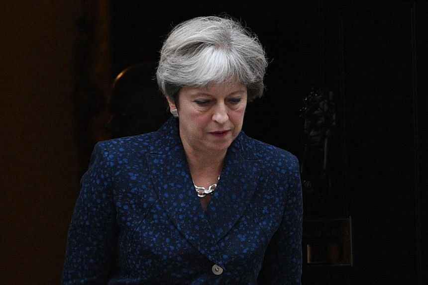 British Prime Minister Theresa May leaves her London residence at 10 Downing Street, in central London, Britain on Sept 7, 2017.