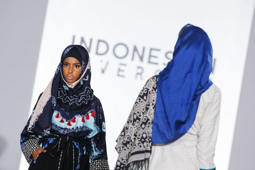 Models walks the runway for the Indonesian Diversity show.