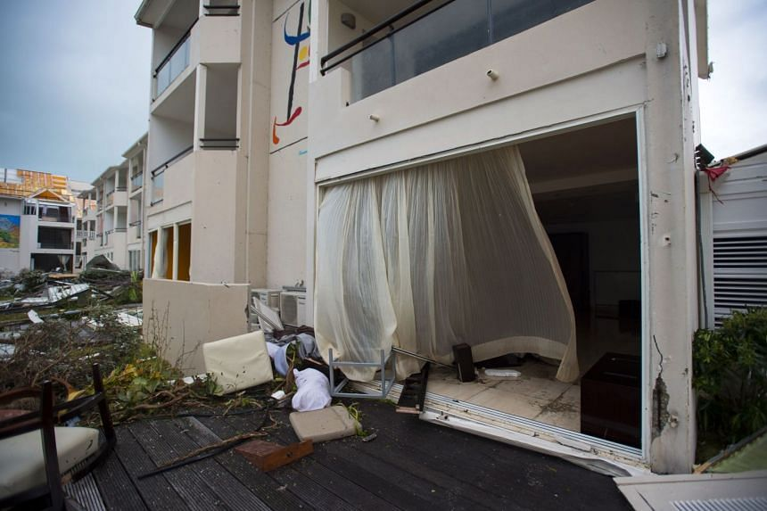 Damage at the Mercure hotel in Marigot, on the island of St-Martin in the north-east Caribbean.