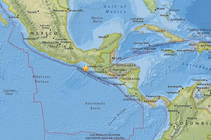 Hazardous widespread tsunami waves are possible in Mexico, Guatemala, El Salvador, Costa Rica, Nicaragua, Panama, Honduras, and Ecuador following the quake, said USGS.