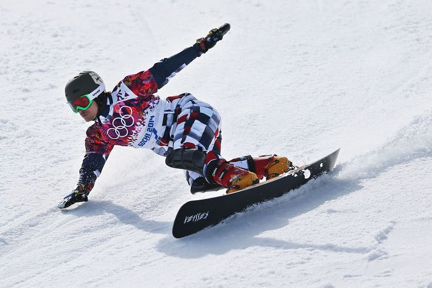 Snowboarder Vic Wild competing for Russia at the Sochi Winter Games. Russian Paralympians will be allowed to compete in Pyeongchang as neutrals.