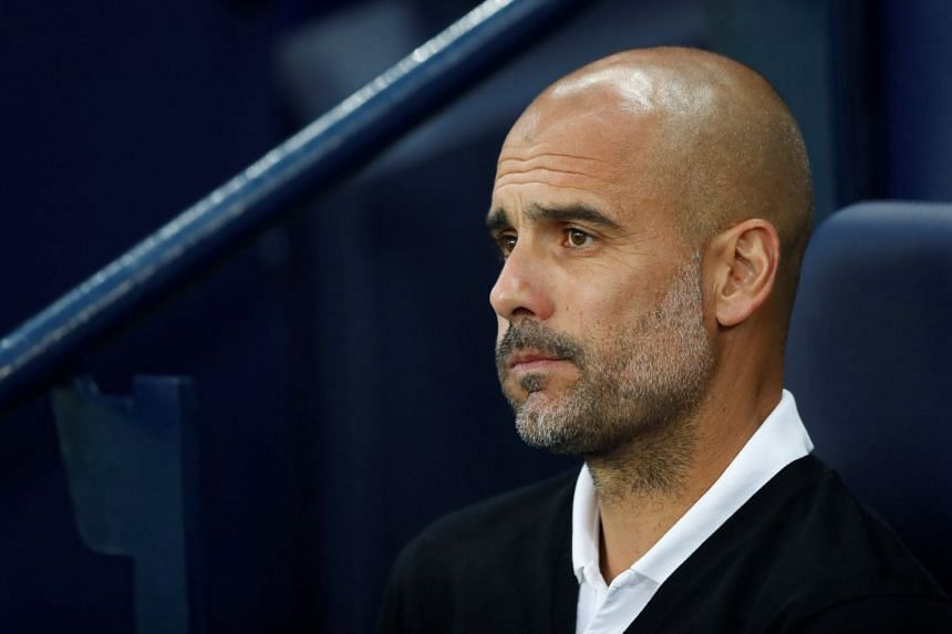 Guardiola (above) suggested City are not the transfer behemoth they have been made out to be.
