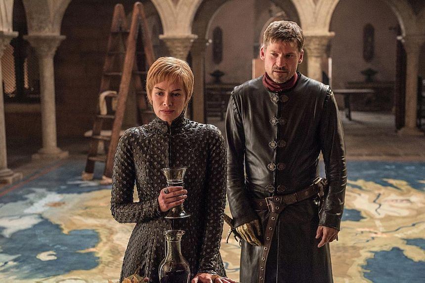 Game Of Thrones stars Lena Headey and Nikolaj Coster-Waldau (both left).