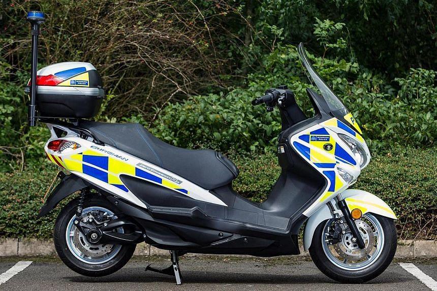 London police test hydrogen scooter.