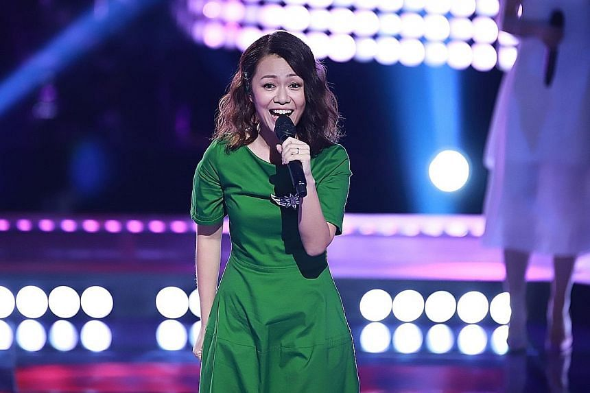 Joanna Dong performed I Want Your Love, a song picked by her mentor, Mandopop superstar Jay Chou.