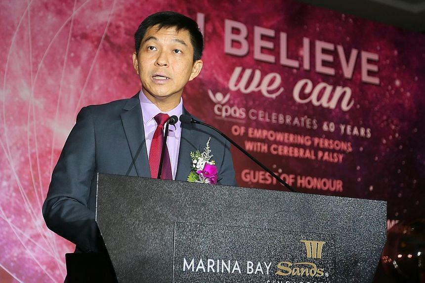The registry was launched at Cerebral Palsy Alliance Singapore's 60th anniversary dinner at the Marina Bay Sands, as part of the hotel's Sands for Singapore Charity Festival. Minister for Social and Family Development Tan Chuan-Jin was guest of honou