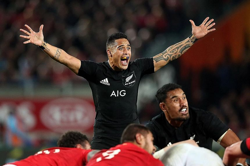 """New Zealand scrum-half Aaron Smith during the drawn third Test against the British and Irish Lions in Auckland on July 8. The country's governing body commissioned a """"respect and responsibility review"""" last November after a number of off-field incide"""