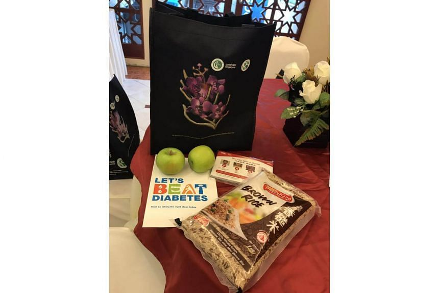 Goody bags were given to participants of Jamiyah Singaporeans War on Diabetes forum officiated by Mdm Halimah Yacob.