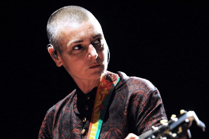 Irish singer Sinead O'Connor performs in France in 2013.