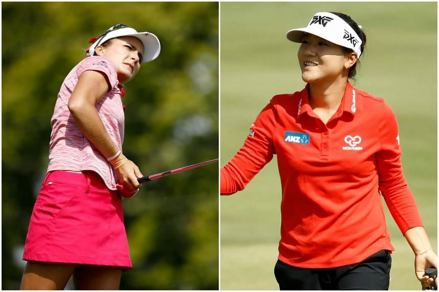 Former world No. 1 Lydia Ko is tied with American Lexi Thompson who is also at 15-under 129 with one round remaining in the tournament at the Brickyard Crossing course in Indianapolis.