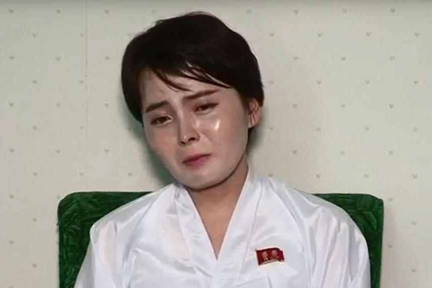 A screen grab taken on July 19, 2017 from an Uriminzokkiri video shows North Korean defector Lim Ji-Hyun.