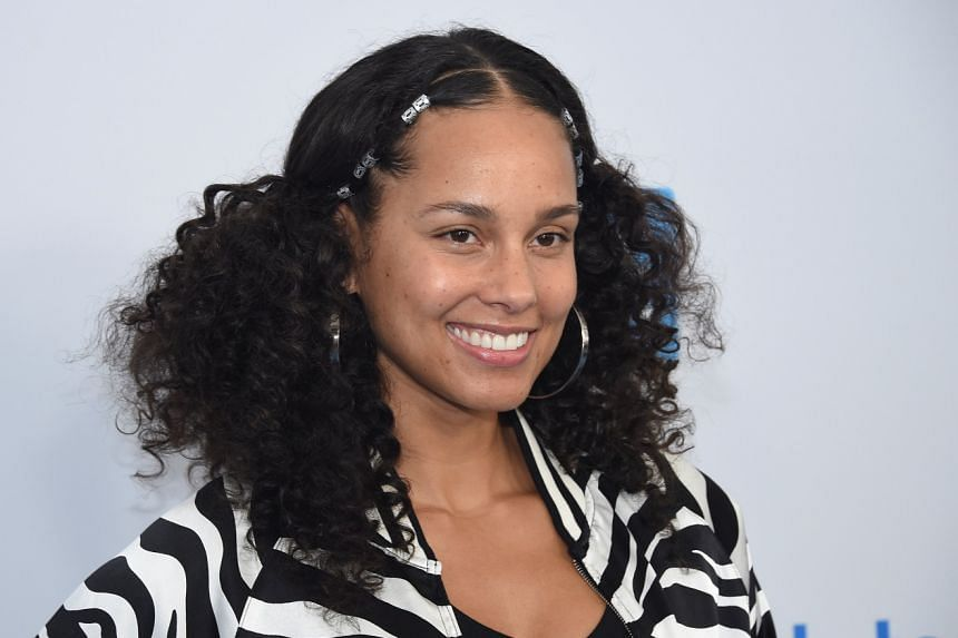 Singer Alicia Keys.