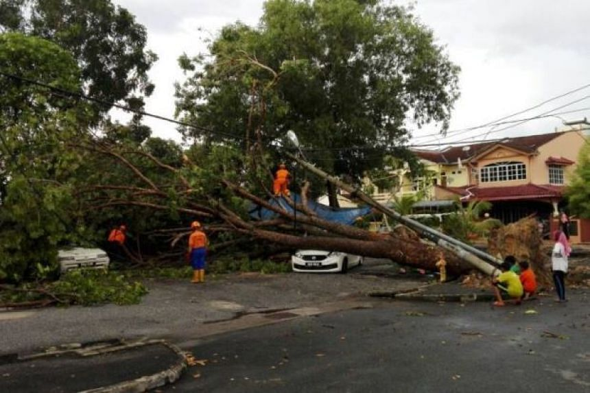 The aftermath of the storm in Kota Setar district in Malaysia.
