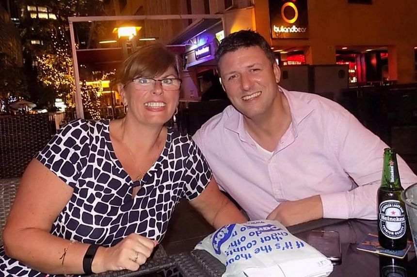 Stephen Begley, 42, seen here with his sister Claire, moved to Singapore in 2012 and was a professional rugby player.