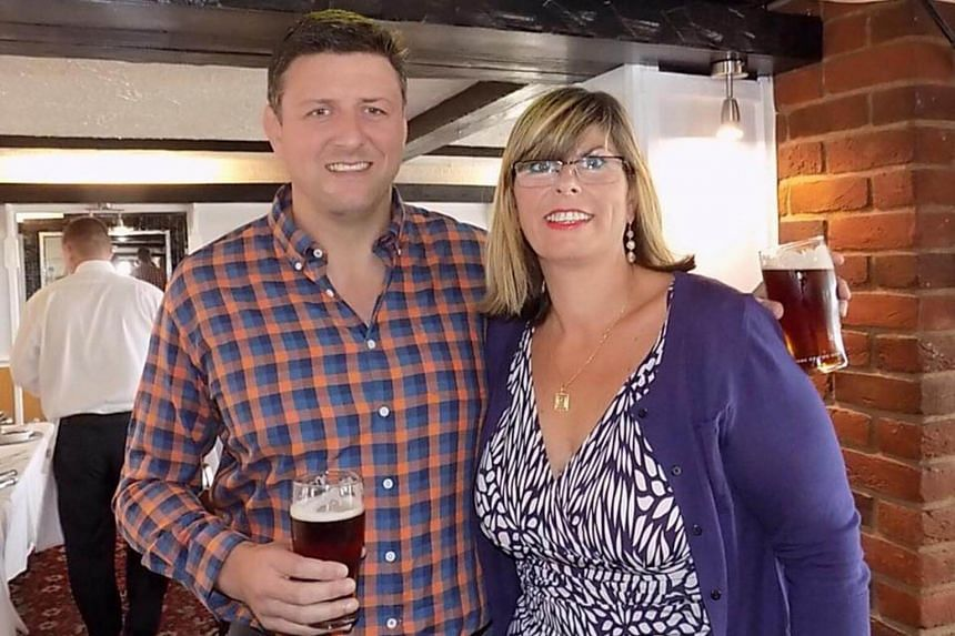 Stephen Begley, 42, seen here with his sister Claire, was pronounced dead at Singapore General Hospital on Sunday, Sept 10 2017.
