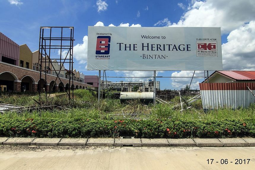 Photographs taken by buyers of The Heritage project site at Lagoi Bay in the northern part of Bintan. At least 69 investors from Singapore forked out between $140,000 and $500,000 for units at the condominium-hotel project. It was originally promised