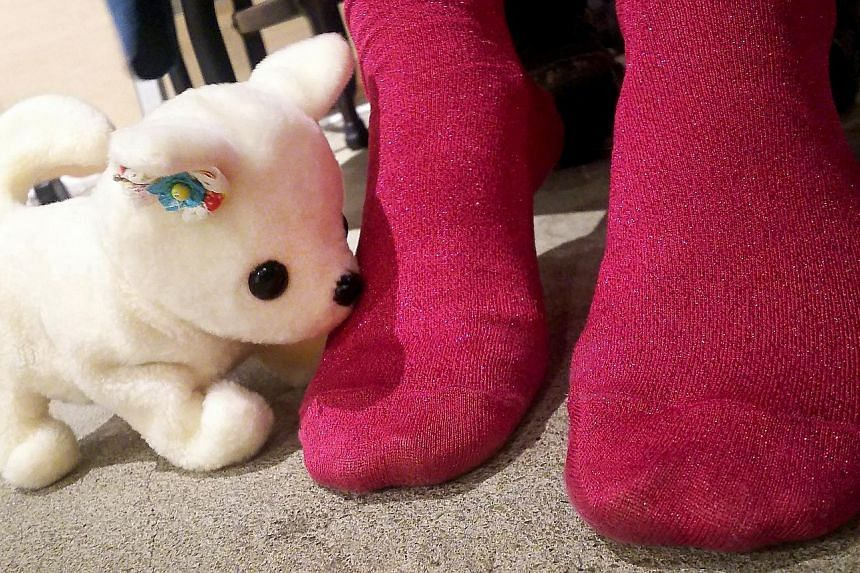 Japanese start-up Next Technology's robot mutt will bark if it detects moderately whiffy toes. It also sprays air freshener if the aroma is unbearable.