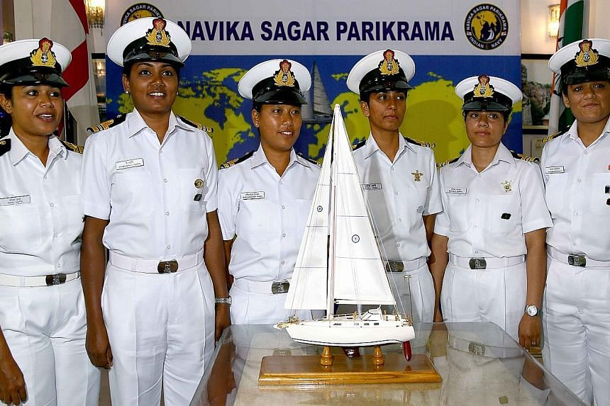 The navy team out to make history - the first circumnavigation of the globe by an Indian all-female crew. The journey will feature stops in Australia, New Zealand, the Falkland islands and South Africa.
