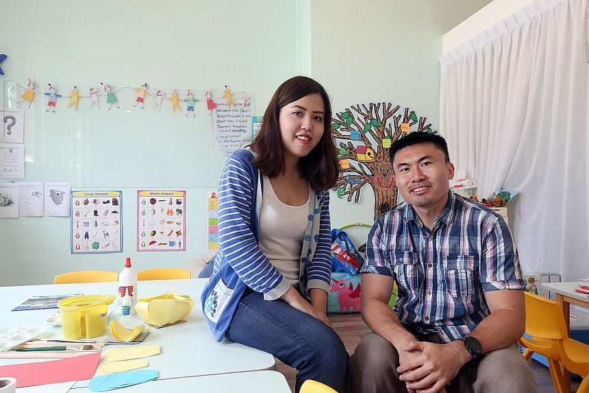 Ms Lydia Lok and her husband Yao Shuohan opened the Curious Thoughts Academy with the goal of teaching a child from a less privileged background for free for every three paying students. The two teachers believe that a good grasp of language is an im