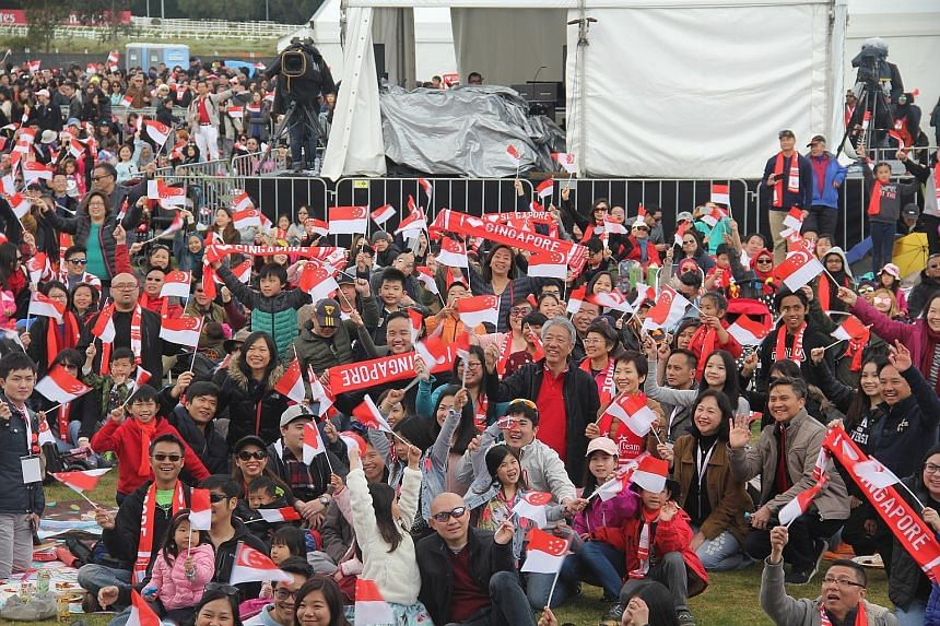 The third Singapore Day celebration in Australia, attended by Deputy Prime Minister Teo Chee Hean, Minister for Culture, Community and Youth Grace Fu and Minister for Health Gan Kim Yong, was held at Flemington Racecourse in Melbourne yesterday. It i