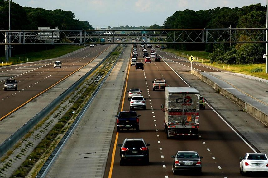 Traffic on Interstate 95 while moving in both directions ahead of Hurricane Irma on Sept 07, 2017 in Cocoa, Florida.