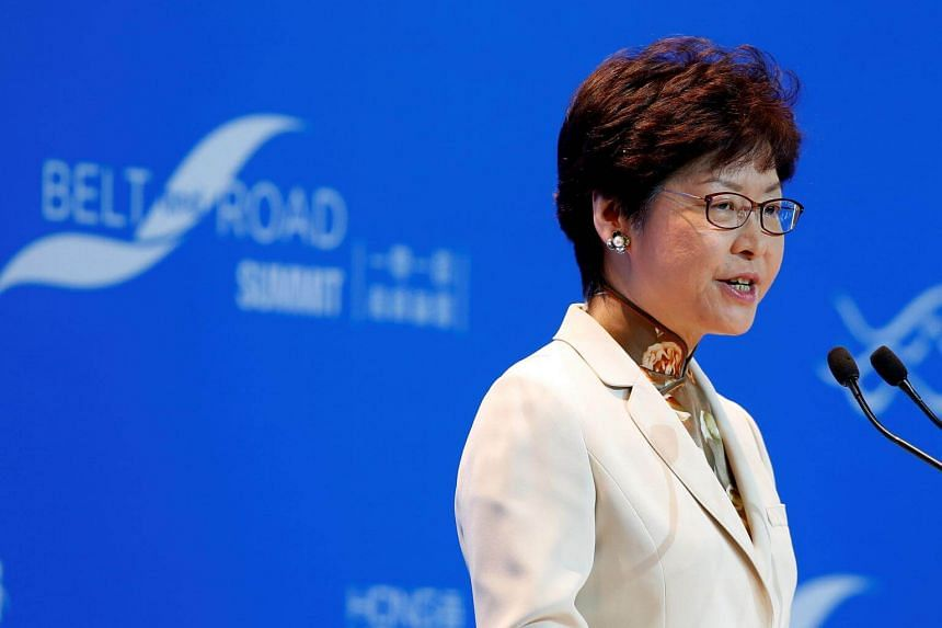 Hong Kong leader Carrie Lam criticised the posters advocating independence from China displayed on some universities.
