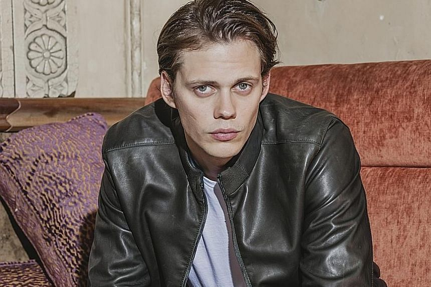 Bill Skarsgard (above) took more than two hours each time to transform into the creepy crown in the movie, It.