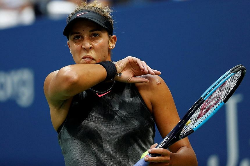 American Madison Keys struggled in her first Grand Slam final, managing just three aces and 30 unforced errors.