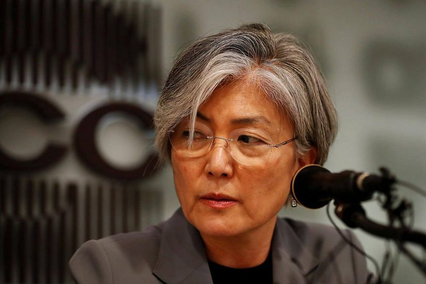 South Korean Foreign Minister Kang Kyung Wha speaks during a news conference in Seoul, South Korea on Sept 11, 2017.