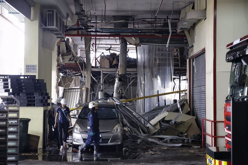 The aftermath of the industrial incident at a 11th floor unit in Enterprise Centre.